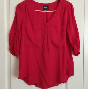 Maeve red silk blouse